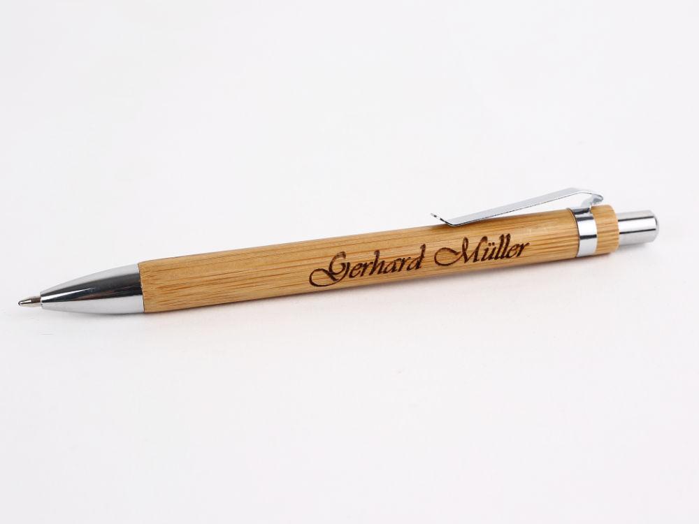 Kugelschreiber Mit Gravur Bambus Dein Geschenk