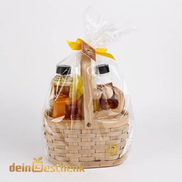Geschenkkorb 5tlg mit Pflegeprodukten Honigduft