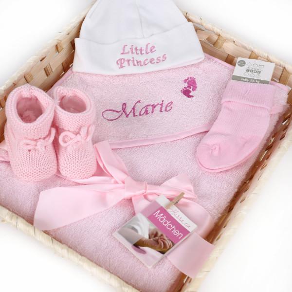 Geschenkkorb Mädchen mit Kapuzenhandtuch