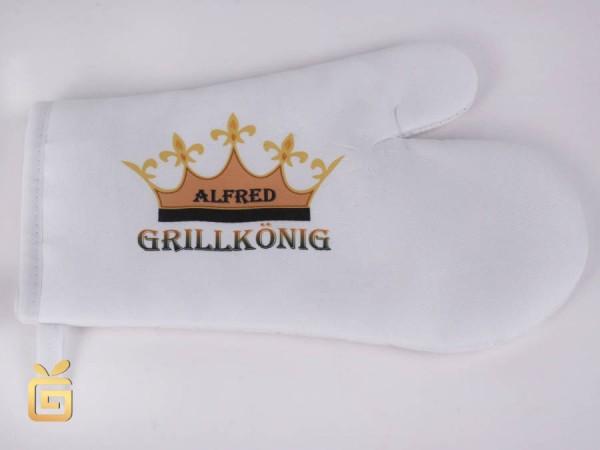 Grillhandschuh mit Namen als persönliches Geschenk