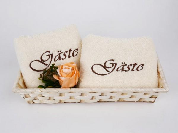 Gästehandtücher bestickt verschenken
