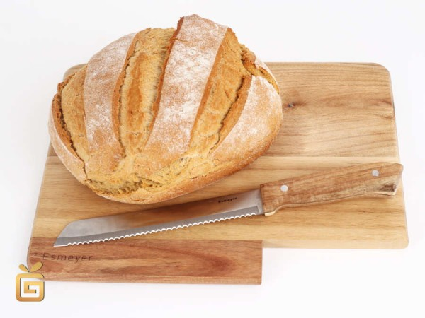 Schneidebrett mit Brotmesser Akazienholz