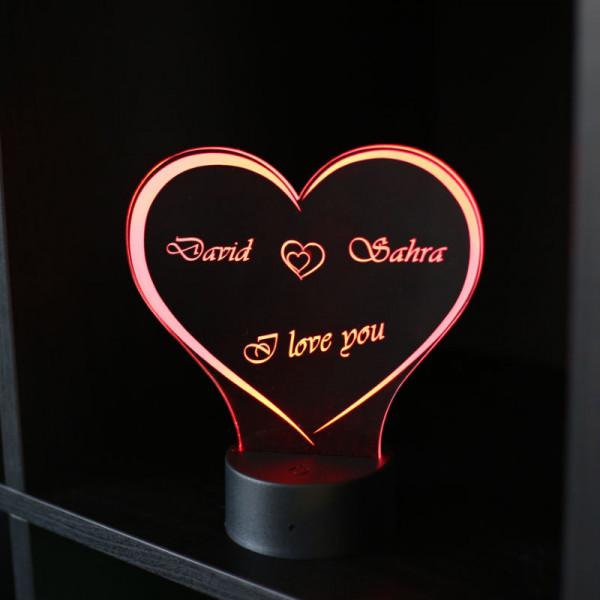 Ich liebe dich Geschenke Acrylherz