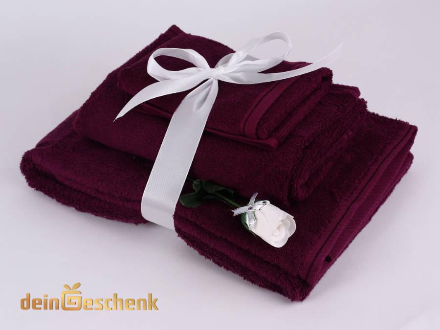 Handtuchset mit Baderose brombeere
